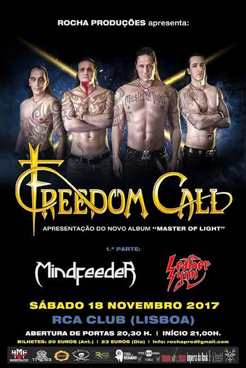 Freedom Call  + Mindfeeder + Leather Synn