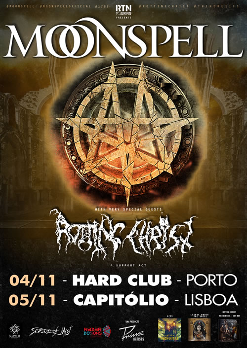 Moonspell + Rotting Christ (Lisboa, 05/11)