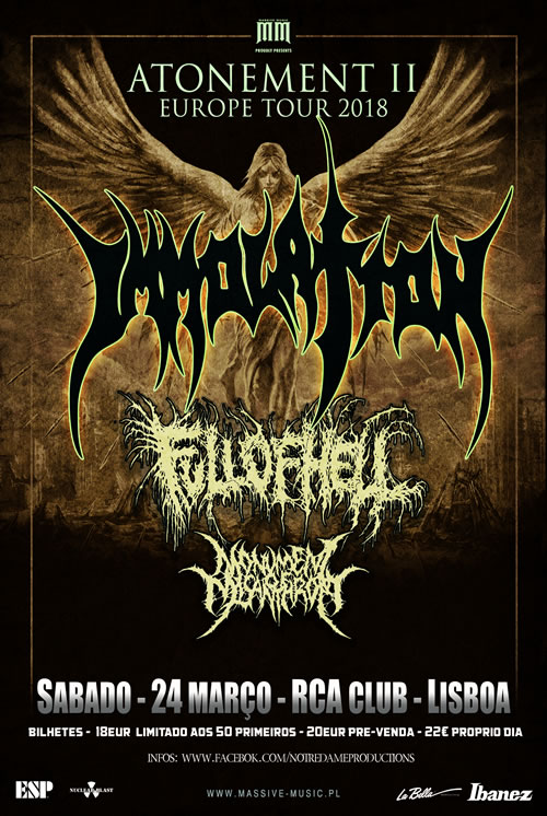 Immolation + Full of Hell + Monument of Misantrophy (RCA, Lisboa)