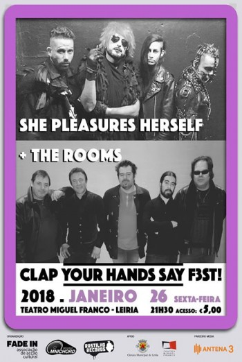 Clap Your Hands Say F3st! -She Pleasures Herself + The Rooms