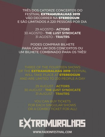 Festival Extramuralhas 2019 (3 Day Pass)